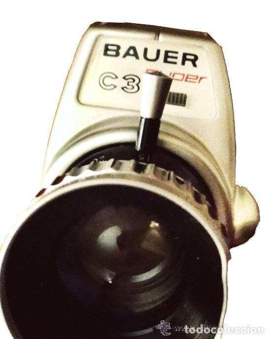 Antigüedades: máquina de filmar, marca alemana Bauer, muy bien conservada con su funda. - Foto 2 - 27376977