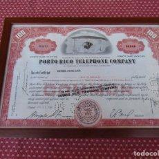 Teléfonos: ANTIGUA ACCION DE LA PORTO RICO TELEPHONE COMPANY. AÑO 1960.. Lote 94301258