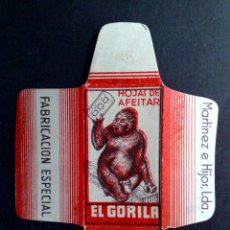 Antigüedades: HOJA DE AFEITAR ANTIGUA-EL GORILA-¡¡PESTAÑA FAB.ESP. MARTINEZ E HIJOS LDA.!!-VINTAGE. Lote 94304366