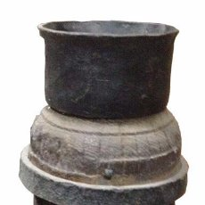 Antigüedades: ANTIGUO EJES DE CARRO PARA DECORACIÓN. Lote 94422854