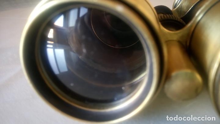 Antigüedades: ANTIGUO PRISMATICOS. AÑOS 40. FUNCIONA. RESTAURADO A MANO ARTESANAL. FOTOS DE SUS 28 COMPONENTES.. - Foto 12 - 94540543