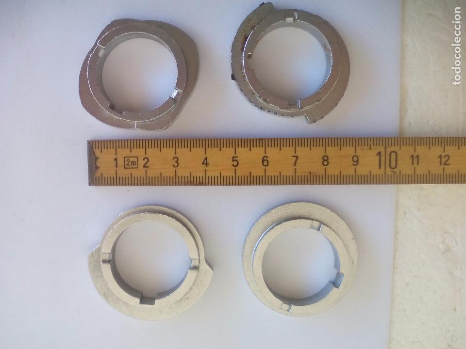 4 DISCOS PARA BORDAR DE MAQUINA COSER SIGMA SUPERAUTOMÁTICA S. SEWING MACHINE STITCH CAM DISCS.LEVAS (Antigüedades - Técnicas - Máquinas de Coser Antiguas - Sigma)