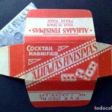 Antigüedades: HOJA DE AFEITAR ANTIGUA-ALHAJAS FINISIMAS-COCTAIL MAGNIFICO-VINTAGE. Lote 94873323