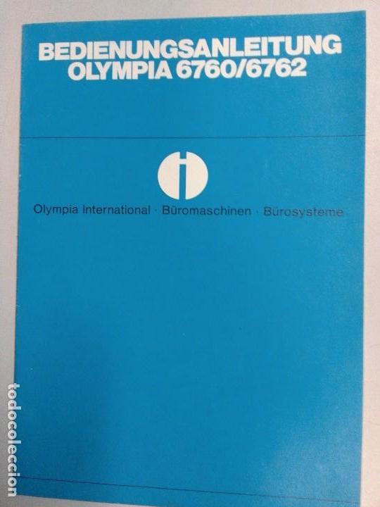 INTRUCCIONES DE USO DE SALDADORA DE CARRO OLYMPIA (Antigüedades - Técnicas - Máquinas de Escribir Antiguas - Olympia)