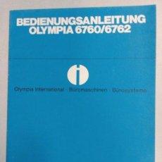 Antigüedades: INTRUCCIONES DE USO DE SALDADORA DE CARRO OLYMPIA. Lote 94991051