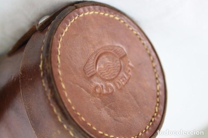 Antigüedades: Antiguo catalejo, de Origen Holandés, con su estuche en cuero - Foto 6 - 116332582
