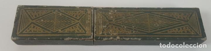 Antigüedades: NAVAJA DE AFEITAR. ACERO DE DOBLE TEMPLE. JOSE MONTSERRAT POU. ESPAÑA. SIGLO XX. - Foto 11 - 95043283