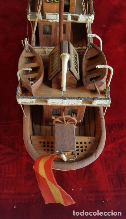 Antigüedades: MAQUETA DE BARCO A VAPOR ALFONSO XIII. MADERA Y METAL. ESPAÑA. PRINCIPIOS SIGLO XX - Foto 17 - 95190911
