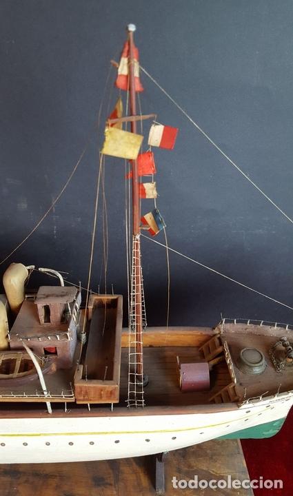 Antigüedades: MAQUETA DE BARCO A VAPOR ALFONSO XIII. MADERA Y METAL. ESPAÑA. PRINCIPIOS SIGLO XX - Foto 22 - 95190911