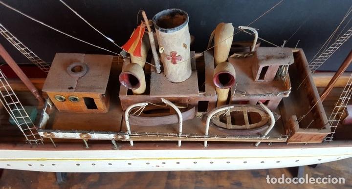 Antigüedades: MAQUETA DE BARCO A VAPOR ALFONSO XIII. MADERA Y METAL. ESPAÑA. PRINCIPIOS SIGLO XX - Foto 23 - 95190911