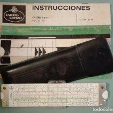 Antigüedades: REGLA DE CALCULO FABER CASTELL BIPLEX 2/82 , 62/82 CON INSTRUCCIONES. Lote 95229075