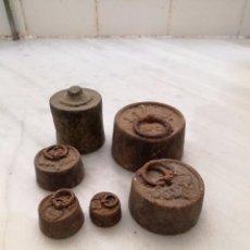 Antigüedades: ANTIGUAS PESAS DE BALANZA. Lote 95257535
