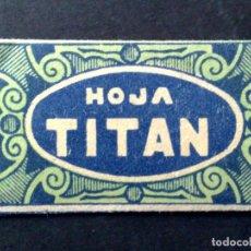 Antigüedades: HOJA DE AFEITAR ANTIGUA-TITAN-SELECTA-VINTAGE. Lote 95299999