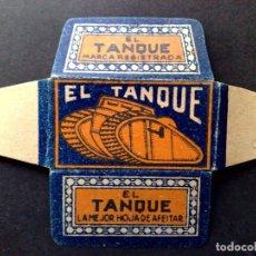 Antigüedades: HOJA DE AFEITAR ANTIGUA-EL TANQUE-VINTAGE. Lote 95300075