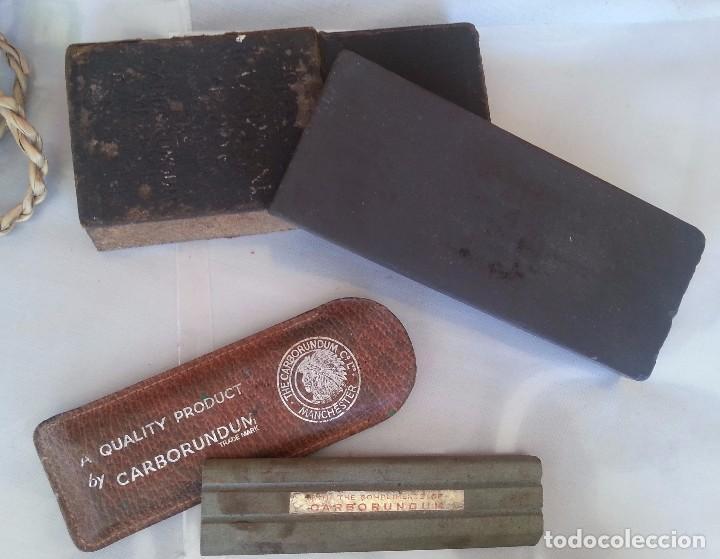 Antigüedades: PIEDRAS DE AFILADO. PAREJA. ANTIGUAS. PARA FORMONES Y HERRAMIENTAS DE CORTE: - Foto 2 - 95373907