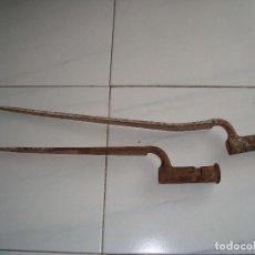 Antigüedades: MUY ANTIGUAS BAYONETAS DE CUBO. Lote 95393571