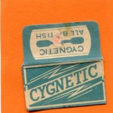 Antigüedades: FUNDA DE HOJA DE AFEITAR ' CYGNETIC '. RARA DE VER. Lote 95393623