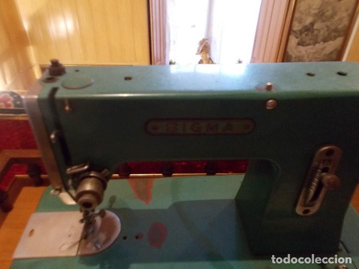 Antigüedades: Maquina de coser marca Sigma años50 - Foto 3 - 95459571