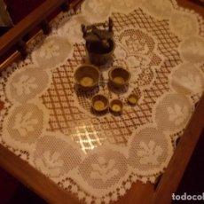 Antigüedades: CONJUNTO DE ANTIGUOS PONDERALES DE BRONCE ,PARA PESAR ORO .. Lote 95461991