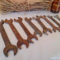 Antigüedades: JUEGO LLAVES FIJAS. HERRAMIENTAS VIEJITAS.. Lote 95475031