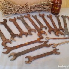 Antigüedades: JUEGO LLAVES FIJAS. HERRAMIENTAS VIEJITAS. 16 UNIDADES.. Lote 95475163