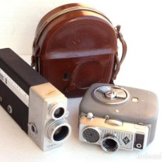 Antigüedades: *1956/1963* • AGFA MOVEX 88L MOVEXAR F1.9 + CINE CANONET 8 CANON ZOOM LENS F1.8. Lote 95496195