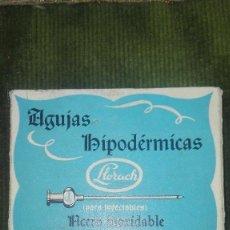 Antigüedades: CAJA AGUJAS HIPODERMICAS.LLORACH. Lote 95512639