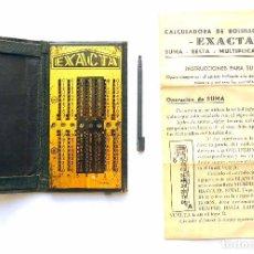 Antigüedades: ANTIGUA CALCULADORA EXACTA EN MUY BUEN USO - INSTRUCCIONES. Lote 95529575