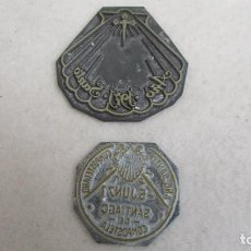 Antigüedades: PLANCHA O CLICHÉ DE IMPRENTA EN PLOMO, ZINC - AÑO SANTO 1971 SANTIAGO. Lote 95535307