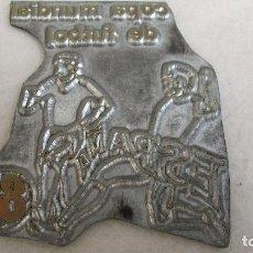 Antigüedades: PLANCHA O CLICHÉ DE IMPRENTA EN PLOMO, ZINC - MUNDIAL ESPAÑA 82. Lote 95536847