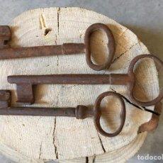 Antigüedades: OFERTA LOTE 3 LLAVES ORIGINALES ANTIGUAS. Lote 95562995