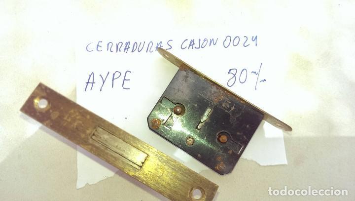 LOTE 2 ANTIGUAS CERRADURAS MARCA AYPE LATON PUERTA (Antigüedades - Técnicas - Cerrajería y Forja - Cerraduras Antiguas)