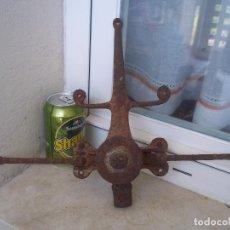 Antigüedades: ESPECTACULAR CANDADO O CERRADURA HIERRO SIGLO??? PARECE ALGUNN SISTEMA DE CIERRRE MIRAR FOTOS. Lote 95604331