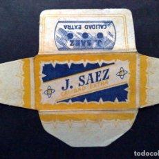 Antigüedades: HOJA DE AFEITAR ANTIGUA-J.SAEZ-CALIDAD EXTRA-VINTAGE. Lote 95648655