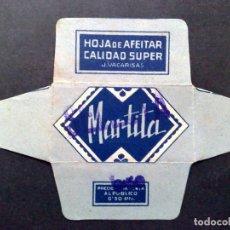 Antigüedades: HOJA DE AFEITAR ANTIGUA-MARTITA-SELECTA DE SOBRECARGA-CALIDAD SUPER-VINTAGE. Lote 95648723