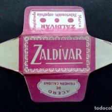 Antigüedades: HOJA DE AFEITAR ANTIGUA-ZALDIVAR-PRIMERA CALIDAD-MALAGA -VINTAGE. Lote 95649183