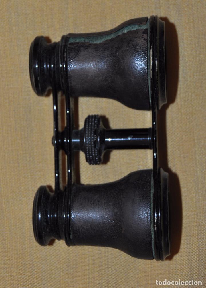 Antigüedades: BINOCULARES DE TEATRO DE FINALES DEL SIGLO XIX CON SU ESTUCHE ORIGINAL - Foto 4 - 95808279