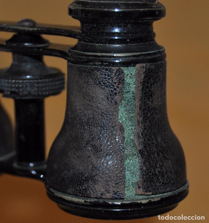 Antigüedades: BINOCULARES DE TEATRO DE FINALES DEL SIGLO XIX CON SU ESTUCHE ORIGINAL - Foto 5 - 95808279