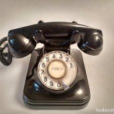 Teléfonos: TELEFONO ANTIGUO DE BAQUELITA NEGRA, EN PERFECTO ESTADO. Lote 95824451