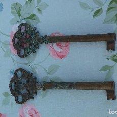 Antigüedades: LOTE DE 2 LLAVES ANTIGUAS . Lote 95850999