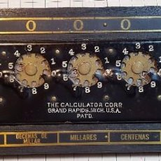 Antigüedades: MAQUINA DE SUMAR THE CALCULATOR. Lote 95976015