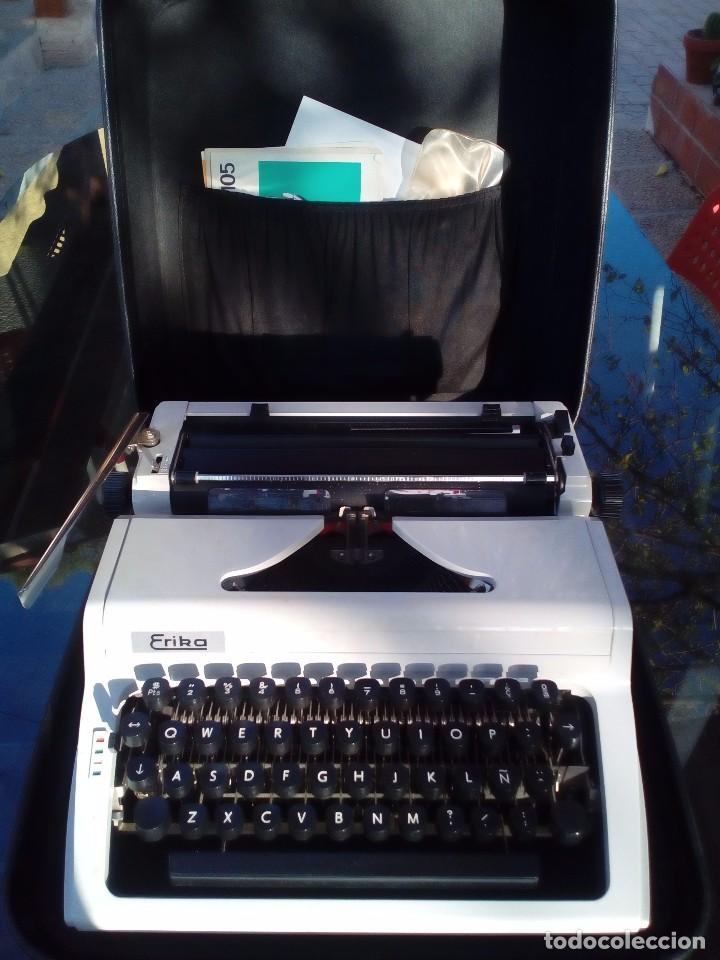 Antigüedades: Máquina de escribir Erika portátil completa. - Foto 2 - 96101207