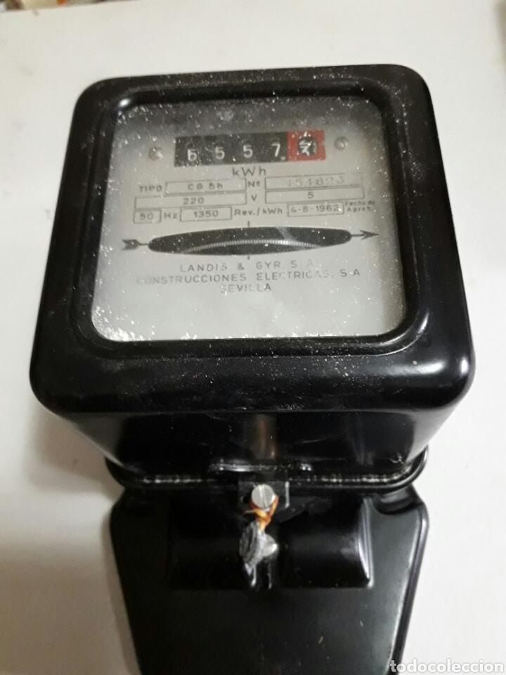 CONTADOR ANTIGUO LANDIS & GYR.S.A AÑO 65 (Antigüedades - Técnicas - Herramientas Profesionales - Electricidad)