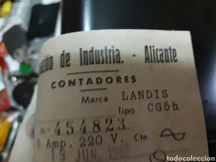 Antigüedades: Contador antiguo LANDIS & GYR.S.A año 65 - Foto 3 - 96102142