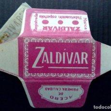 Antigüedades: HOJA DE AFEITAR ANTIGUA-ZALDIVAR-PRIMERA CALIDAD-MALAGA-VINTAGE. Lote 96290263