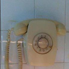 Teléfonos: TELÉFONO DE PARED, COLOR CREMA, AÑOS 70. Lote 96297123