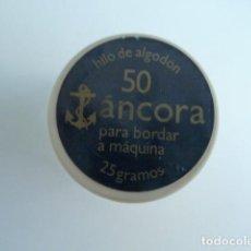 Antigüedades: BOBINA - CARRETE - HILO - FABRA Y COATS - ANCORA ALGODON PARA BORDAR Nº 50. Lote 96387687
