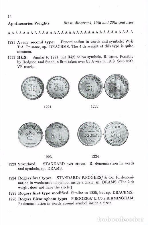 Antigüedades: ponderales de Boticarios Apothecaries Weights de Norman Biggs - Foto 2 - 96463051