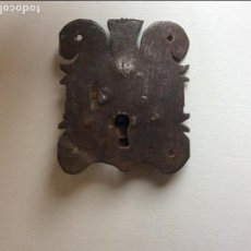 Antigüedades: CERRAJA ANTIGUA 10CM X 8CM.. Lote 104280999