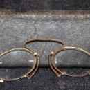 Antigüedades: ANTIGUAS GAFAS CON MONTURA DE ORO DE 18 QUILATES. Lote 96747447